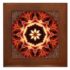 Kaleidoscope Rose Framed Tile