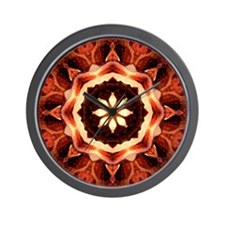 Kaleidoscope Rose Wall Clock