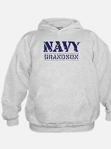 Navy Grandson Stencil Hoodie