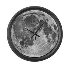 Large Moon Wall Clock