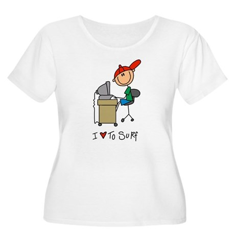I Love to Surf! Women's Plus Size Scoop Neck T-Shi