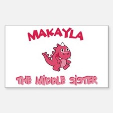 Makayla - Dino Middle Sister Rectangle Decal