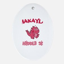 Makayla - Dino Middle Sister Oval Ornament