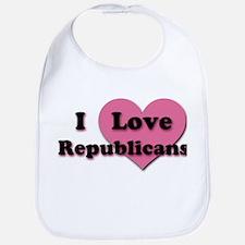 Pink Heart Republicans Bib