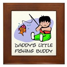 Daddy's Little fishing Buddy Framed Tile
