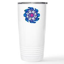 Cyberdelic Kaleidoscope Travel Coffee Mug