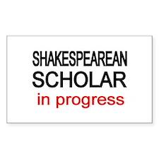 Shakespearean Scholar Rectangle Decal