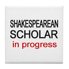 Shakespearean Scholar Tile Coaster
