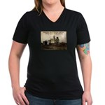 Mission San Xavier del Bac Women's V-Neck Dark T-S