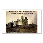 Mission San Xavier del Bac Rectangle Sticker 50 p
