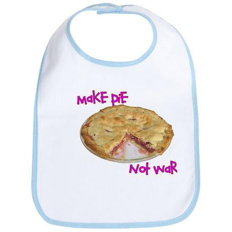 Make pie not war Bib