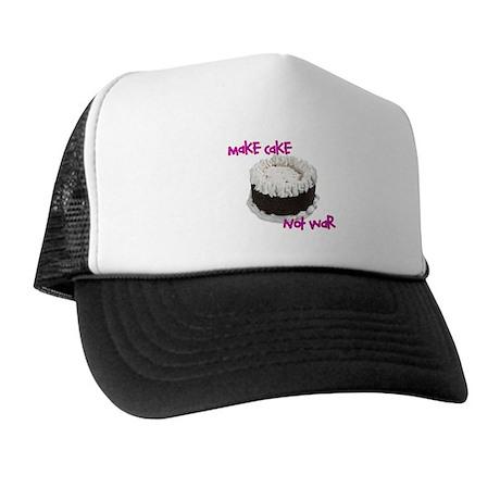 make cake not war Trucker Hat