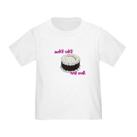 make cake not war Toddler T-Shirt