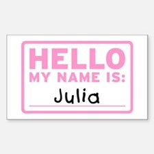 Hello My Name Is: Julia - Decal