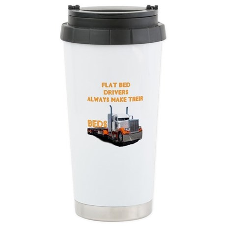 Flat Bed Drivers Stainless Steel Travel Mug