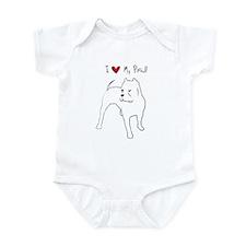 I Love My Pitbull Infant Bodysuit