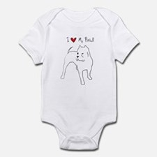 I Love My Pitbull Infant Bodysuit