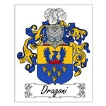 Dragoni Family Crest Small Poster