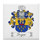 Dragoni Family Crest Tile Coaster