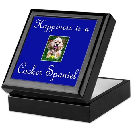 Happiness is a Cocker Spaniel Keepsake Box