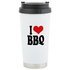 I Love BBQ Travel Mug