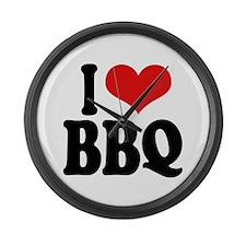 I Love BBQ Large Wall Clock