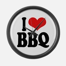 I Love BBQ Large Wall Clock