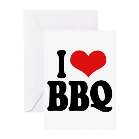 I Love BBQ Greeting Card