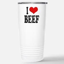 I Love Beef Stainless Steel Travel Mug