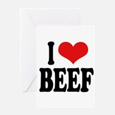 I Love Beef Greeting Card
