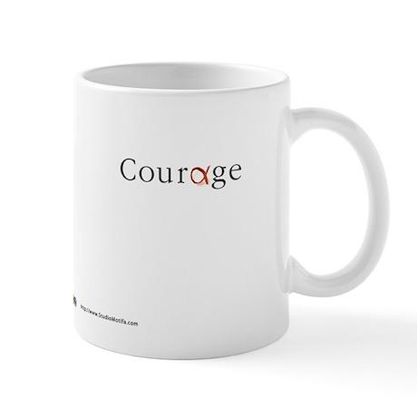 Courage Red 2 Mug