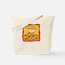 1st Thanksgiving Pumpkins Tote Bag