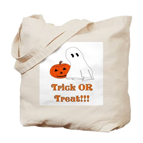 trick or treat ghost and pump Tote Bag