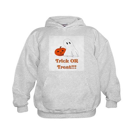 trick or treat ghost and pump Kids Hoodie