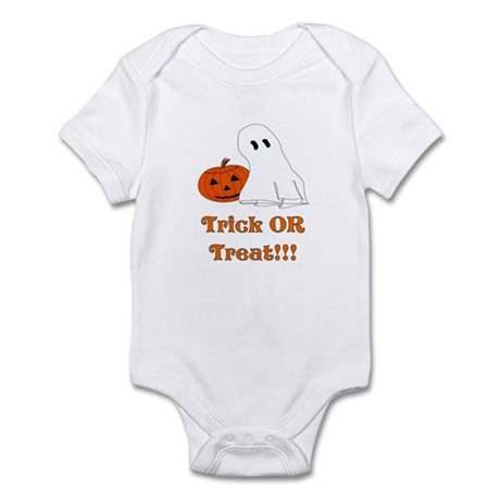 trick or treat ghost and pump Infant Bodysuit