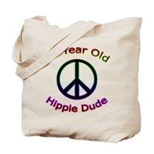 Hippie Dude 80th Birthday Tote Bag
