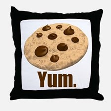Yum. Cookie Throw Pillow