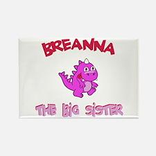 Breanna - Dino Big Sister Rectangle Magnet