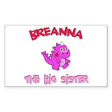 Breanna - Dino Big Sister Rectangle Decal