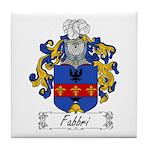 Fabbri Family Crest Tile Coaster