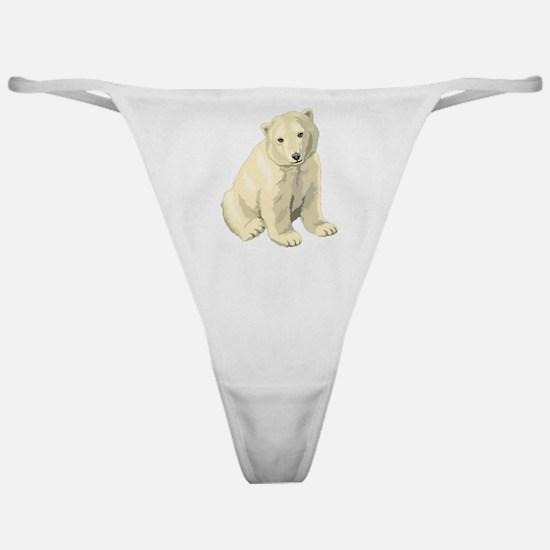 Cute White Polar Bear Classic Thong