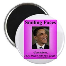 """""""Smiling Faces"""" 2.25"""" Magnet (100 pack)"""