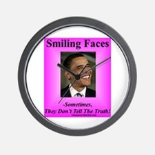 """Smiling Faces"" Wall Clock"