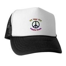 Hippie Dude 65th Birthday Trucker Hat