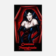 Countess Transylvania Rectangle Decal