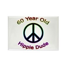 Hippie Dude 60th Birthday Rectangle Magnet