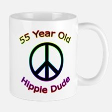 Hippie Dude 55th Birthday Mug