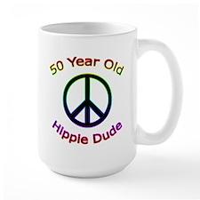 Hippie Dude 50th Birthday Mug