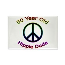 Hippie Dude 50th Birthday Rectangle Magnet