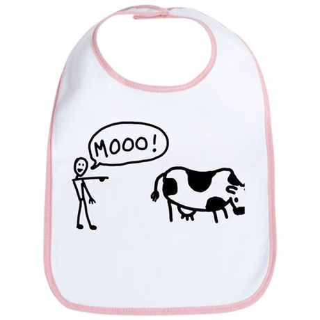 Moo At Cow Bib